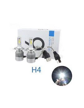 Pack C6 LED phare H4 + 2 veilleuses LED offertes