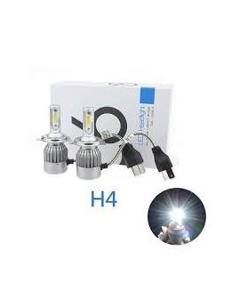 Pack C6 LED phare H4 + 2 veilleuses LED offertes